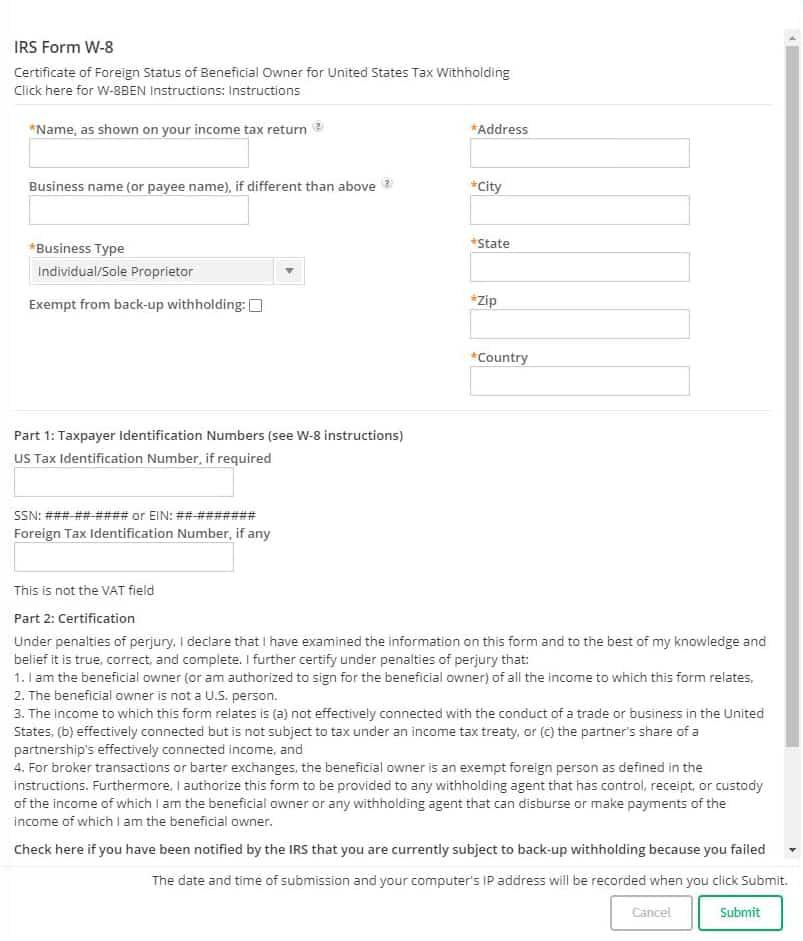 CJ 联盟税表填写