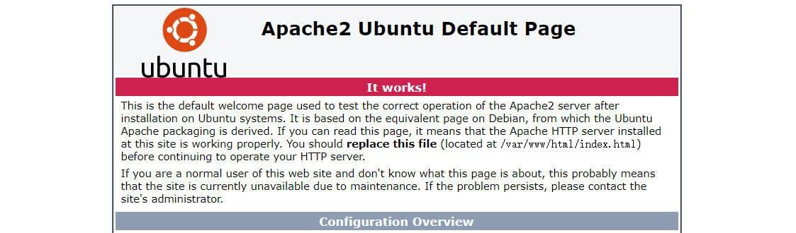 Apache2 默認頁面